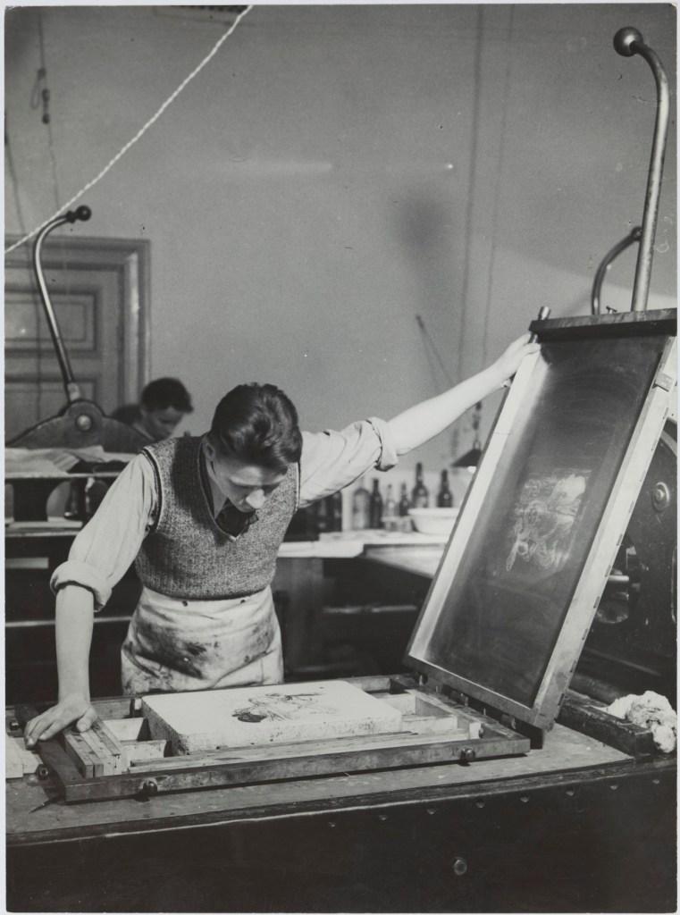 Graafisen taiteen osasto, litografia, kivipaino