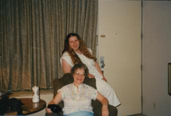 An old photo of Aunt Marietta and me