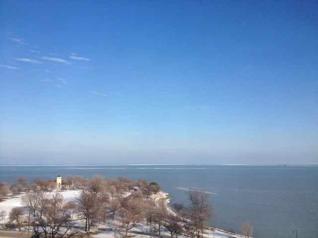 Promontory Point with snow