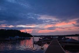 A corner of Lake Vermilion at sunset