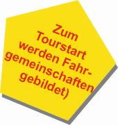 Fahrgemeinschaft zum Tourstart