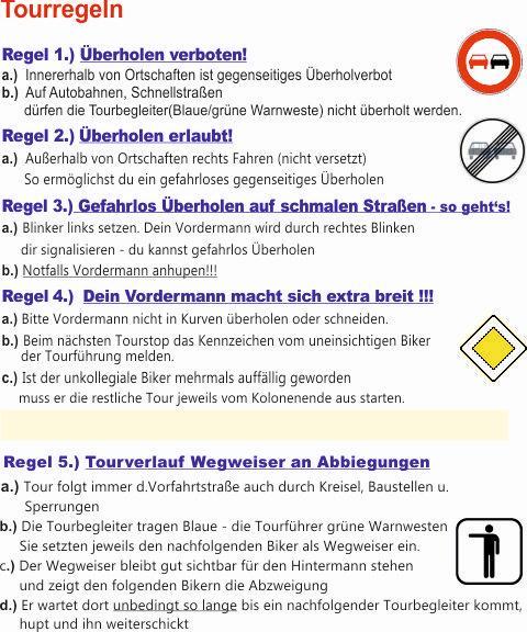 Tourregeln SM-Weilerbach