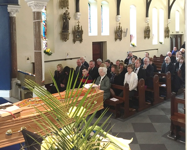 Fr Jim's family and friends who travelled from all over Ireland and from England to say a final 'goodbye'.