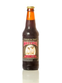 bottle of bulldog root beer
