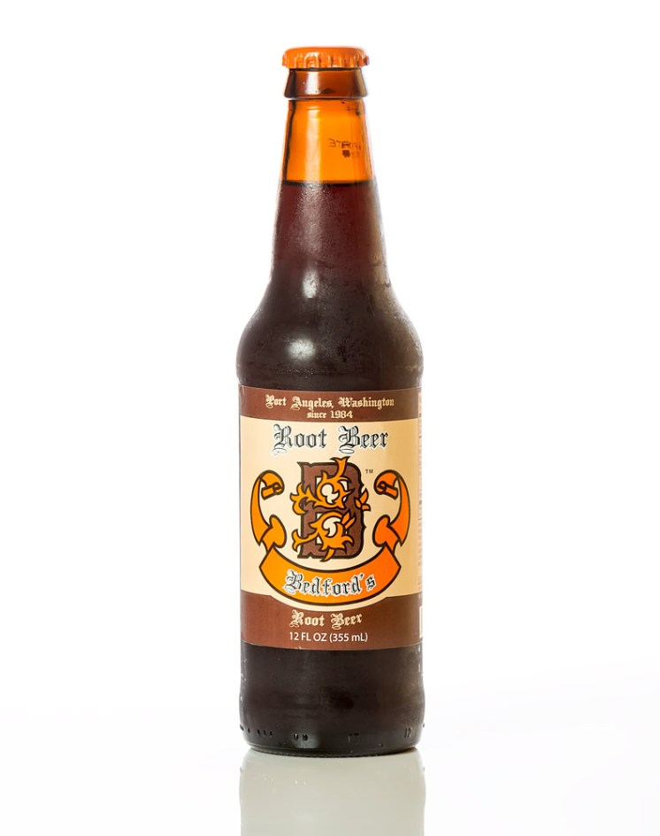 Bedford's Root Beer, full bottle