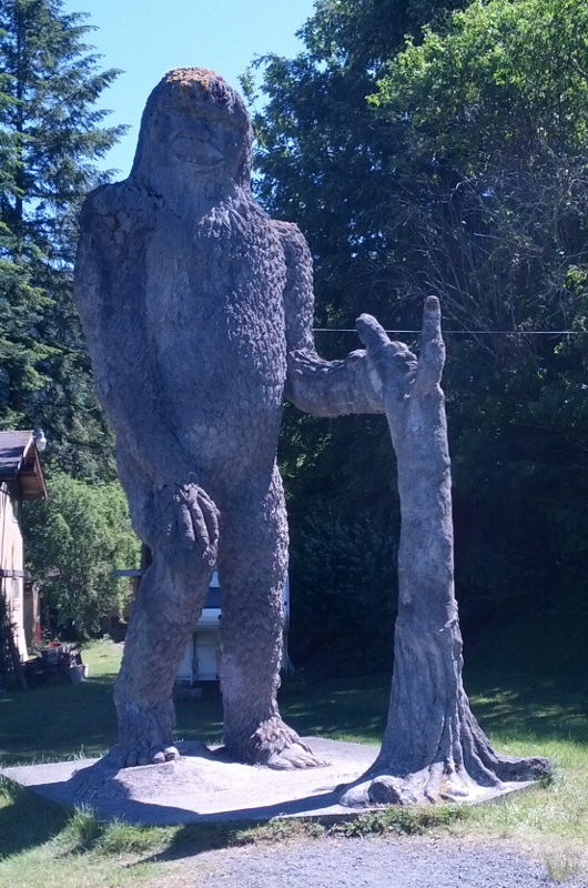 Giant Bigfoot statue