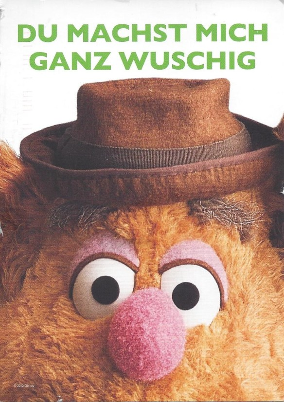 German Fozzie Bear Postcard