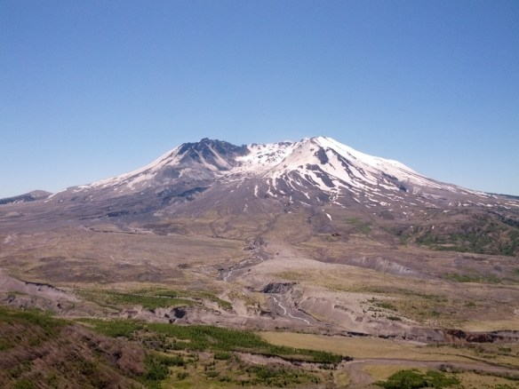 Mount St Helens as photographed from the Josnston Observatory