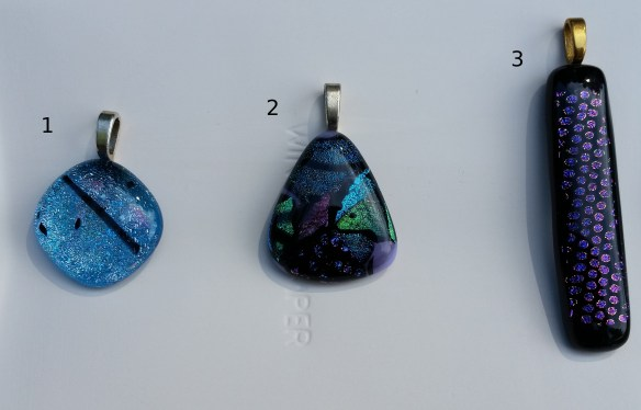 Necklaces 1, 2 and 3