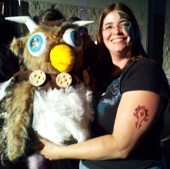 Stuffed Moonkin for Cosplay & me.