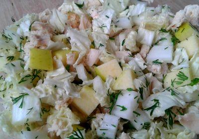 Салат із курятини і пекінської капусти