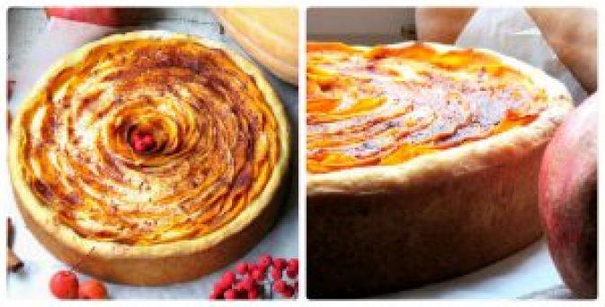 Пиріг із гарбузом і сиром