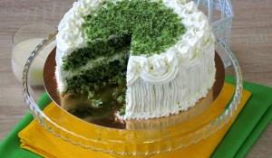 """Шпинатний торт """"Смарагдовий оксамит"""""""