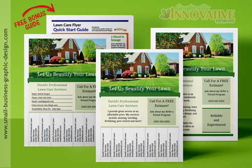 printable lawn care business flyer