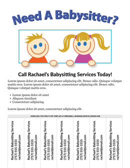 Customize 510+ babysitting flyer templates. Free Babysitting Flyer Template