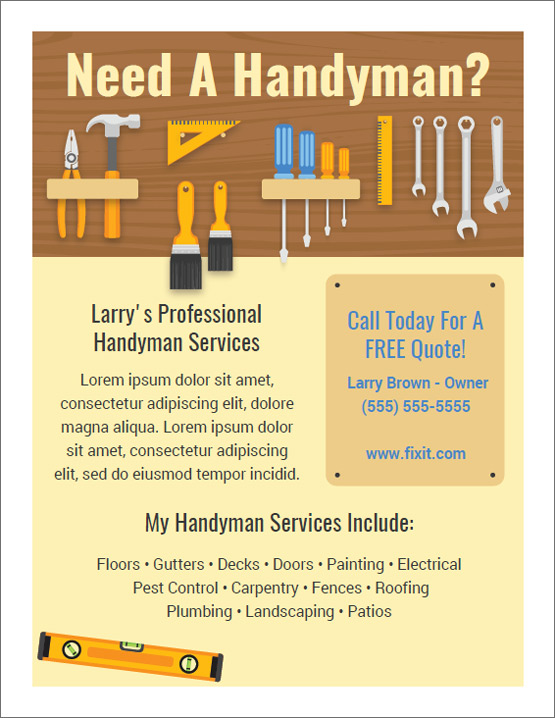 Best Handyman Flyers For Sale