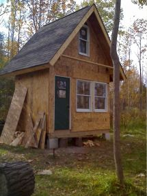 Small Log Cabin with Loft Plans