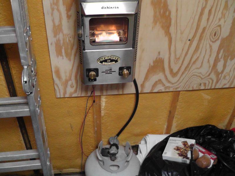 Vented Propane Heater For Cabin Facias