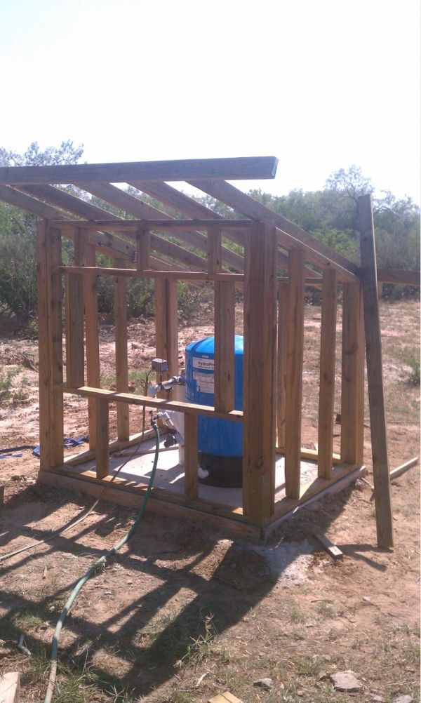 Small Water Well Shed