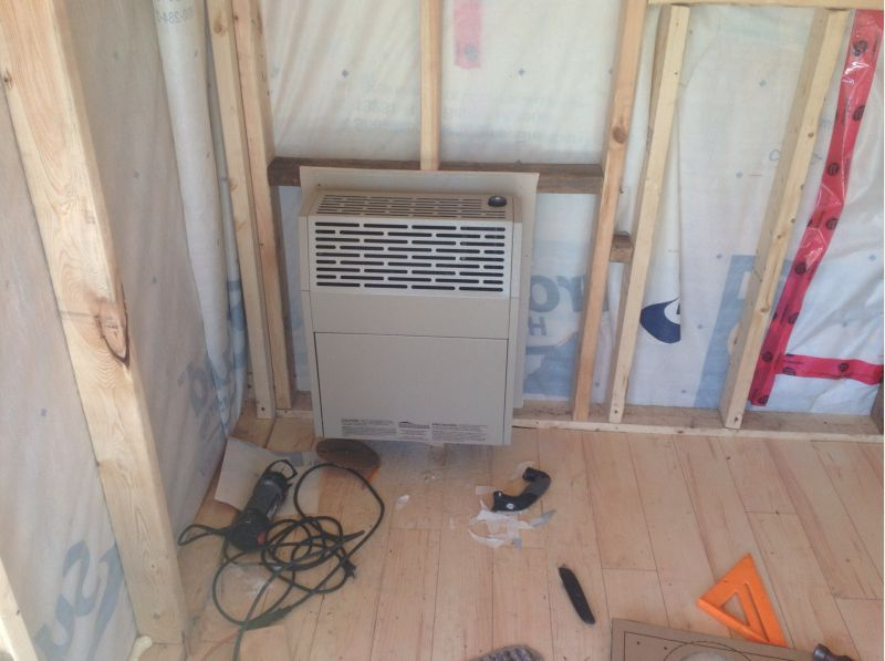 Installing direct vent propane furnace