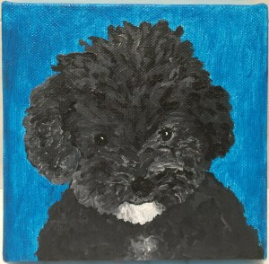 Harper B. Painting by Amy Neil
