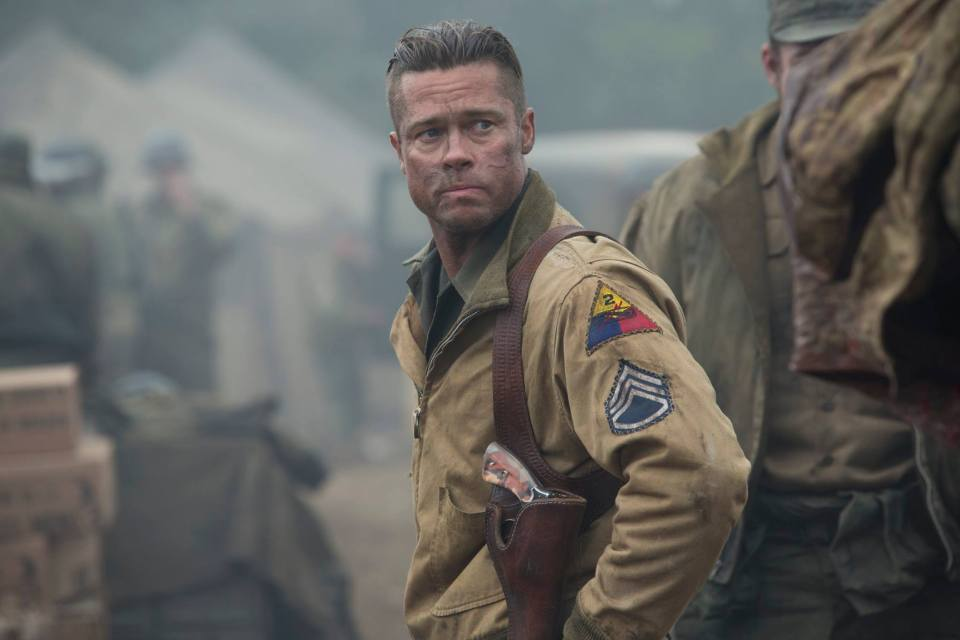 Picture courtesy of https://www.facebook.com/OfficialFuryMovie (Brad Pitt's War grizzled 'Wardaddy')