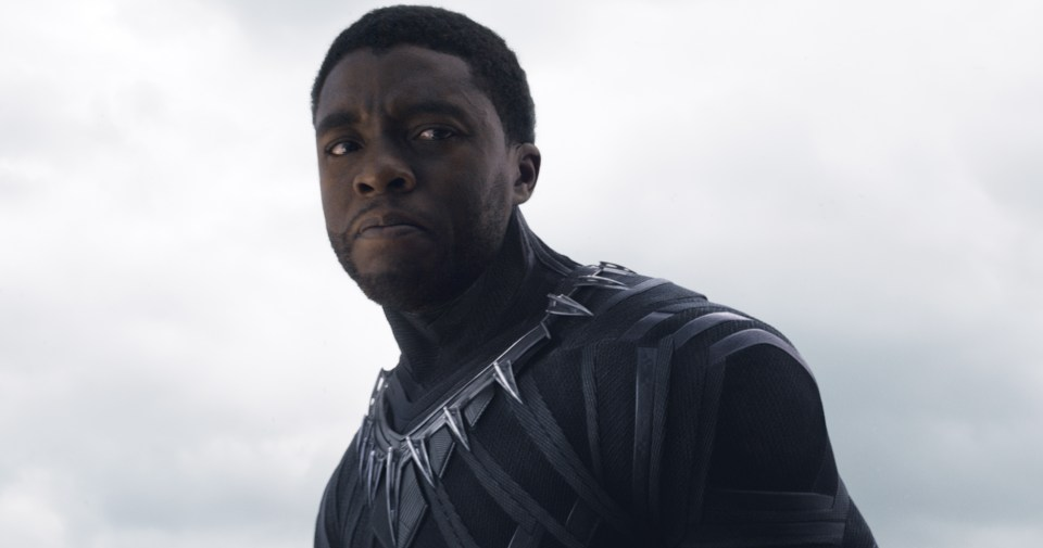 Chadwick Boseman as Black Panther in Captain America: Civil War