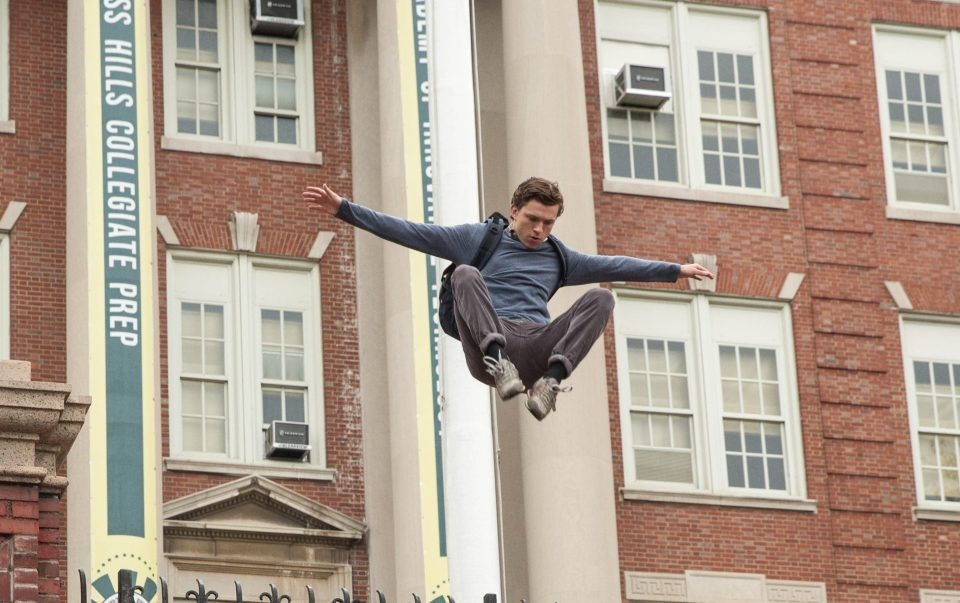 Peter Parker can jump homecoming