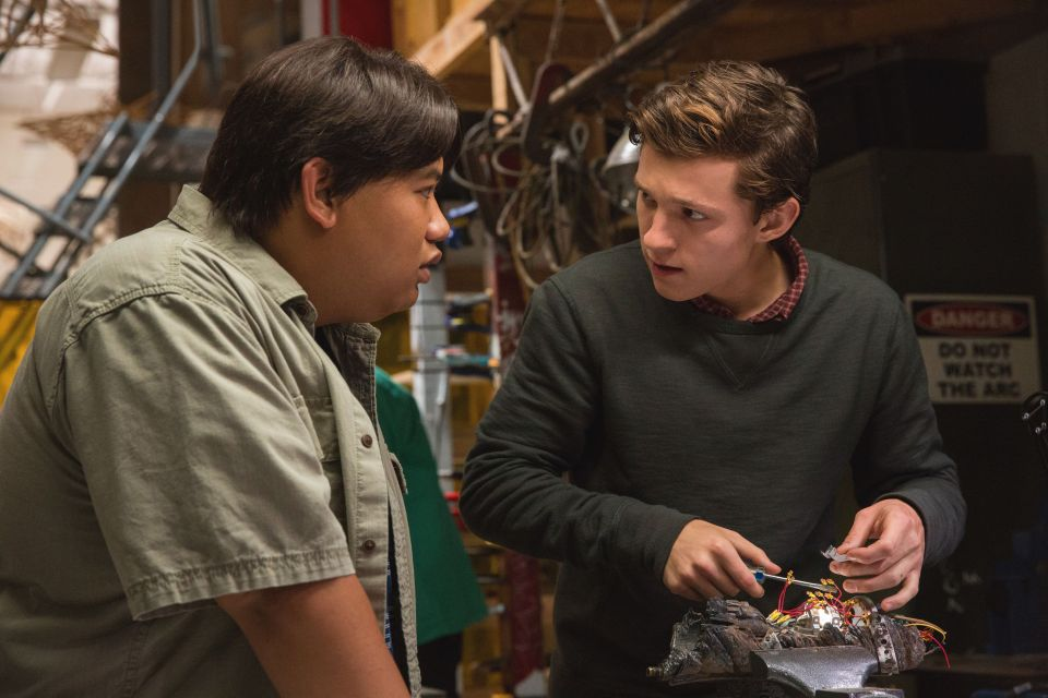 Peter and his best friend Ned in Homecoming.