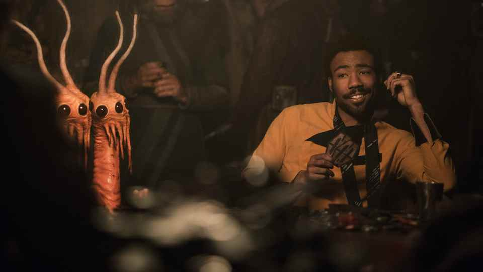 Donald Glover is Lando Calrissian in SOLO: A STAR WARS STORY.