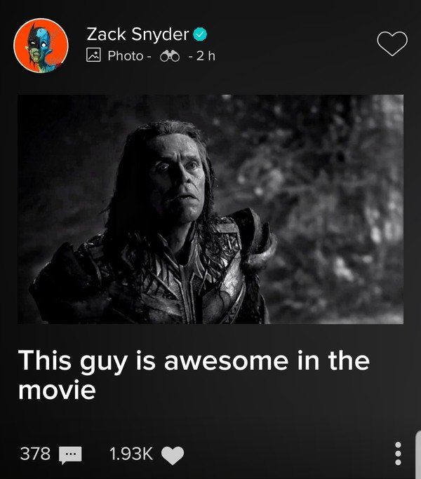 zack snyder cut justice league willem dafoe 2