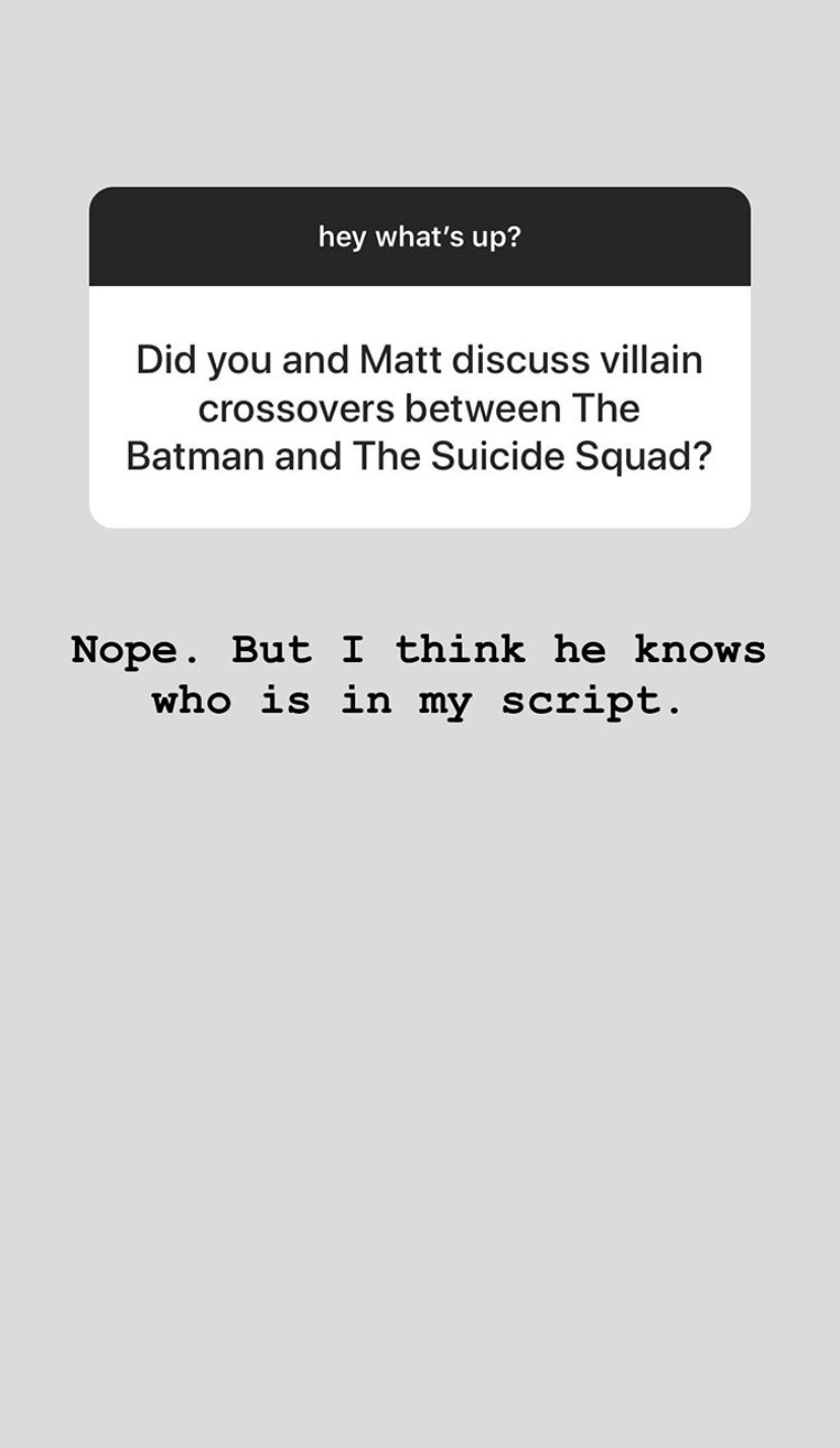James Gunn is chatting The Suicide Squad and Batman on Instagram