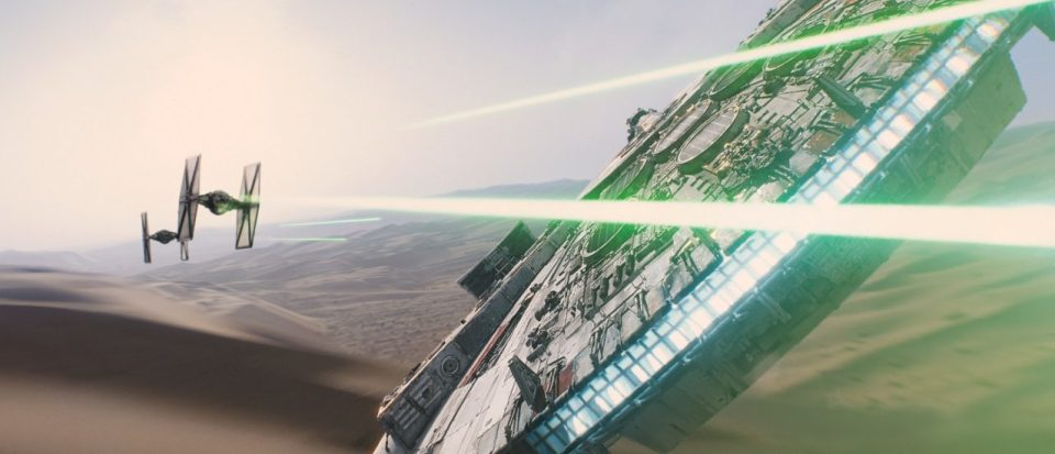 The Millennium Falcon in Star Wars: The Force Awakens
