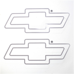 Chevrolet Bowtie Clear Vinyl Sticker Decals