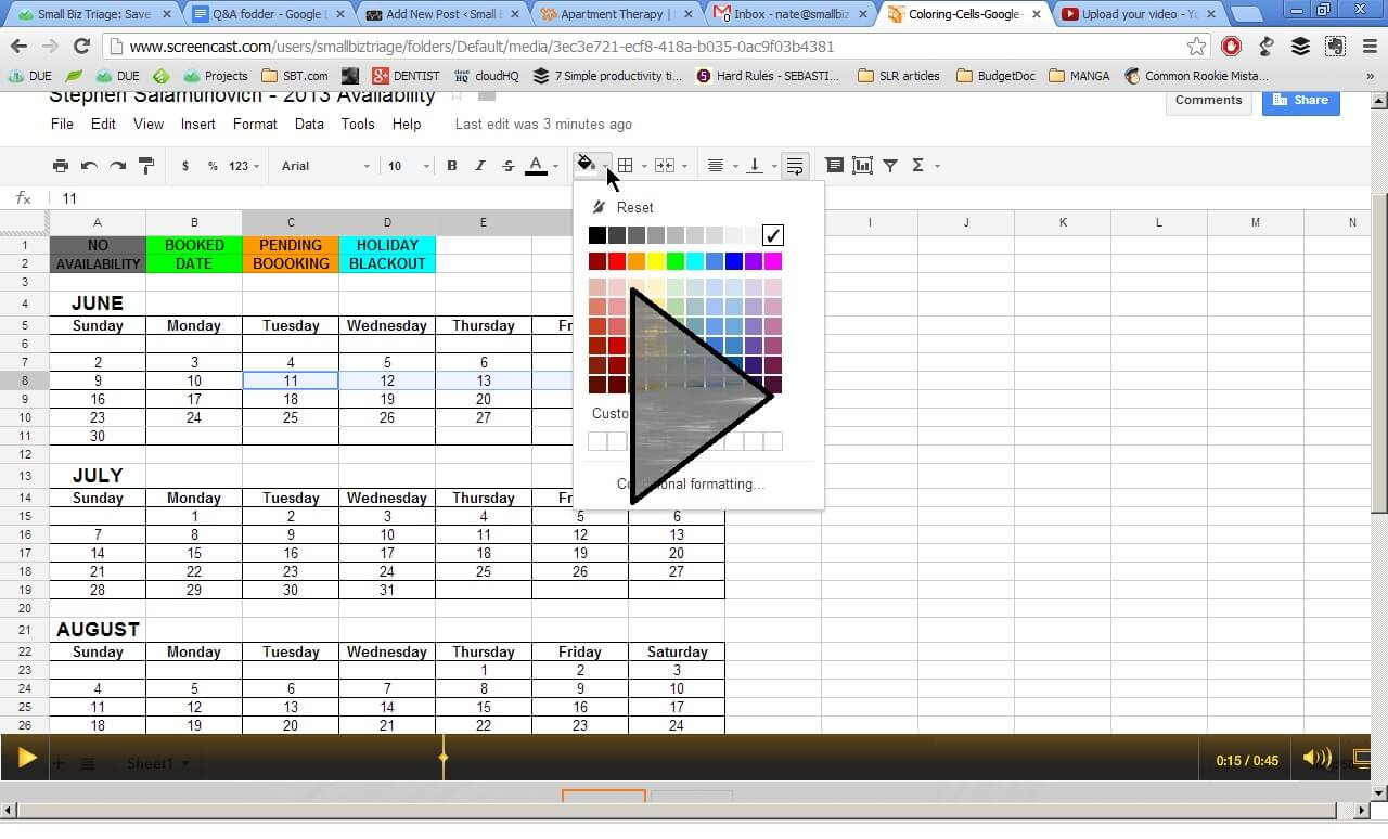 How Do I Color Code My Spreadsheet