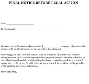 Letter Before Action >> Letter Before Legal Action Sample Sample Resume For