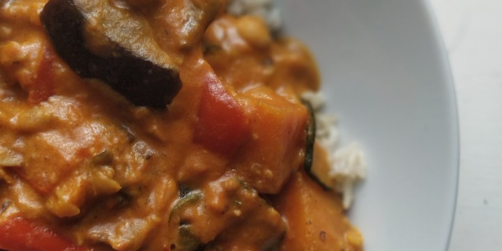 Vegan Aubergine & Chickpea Curry
