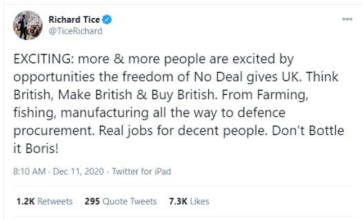 Tice tweet