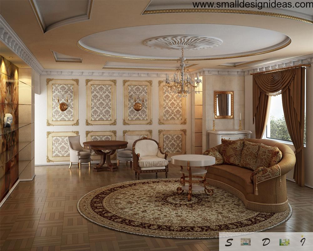 leather furniture for small living room modern colours 2018 classic interior design style (classicism style)