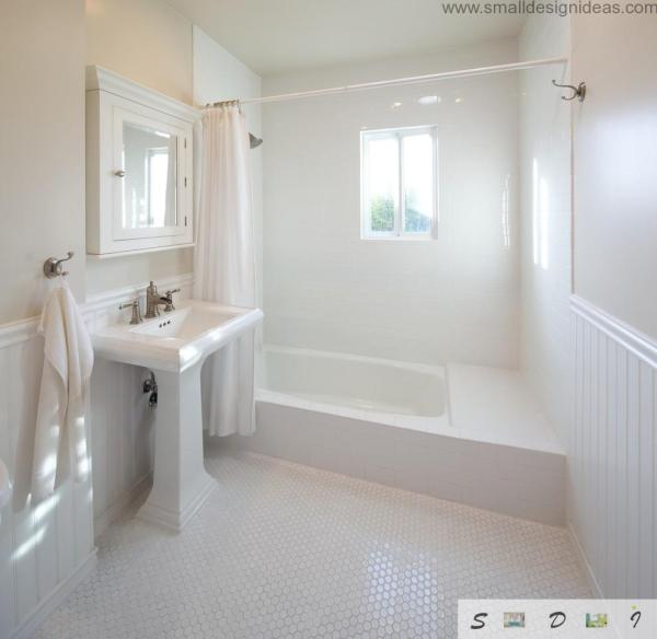 White Hexagon Tile Bathroom