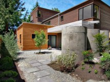 Modern Concrete House with Roof