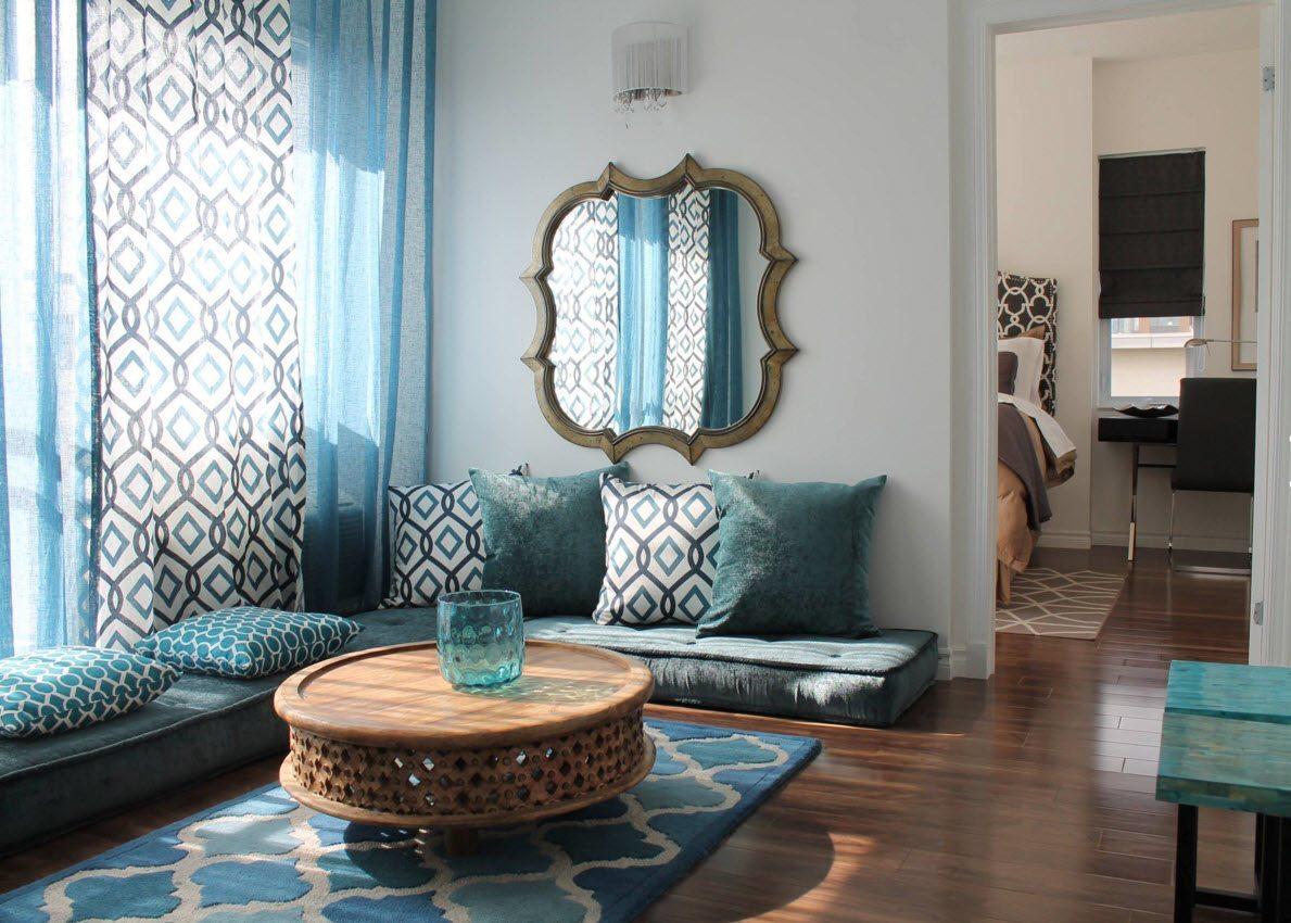 Blue curtains for living room - Living Room Curtains Design Ideas 2016 Small Design Ideas