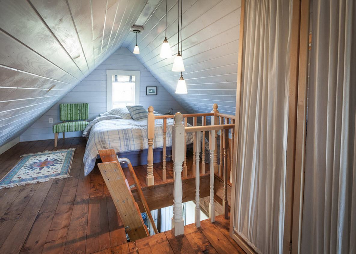 Loft Style Bedroom Design at the Attic