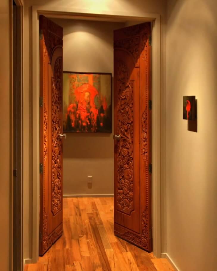 Carved Wooden Door as Piece of Art in your Interior