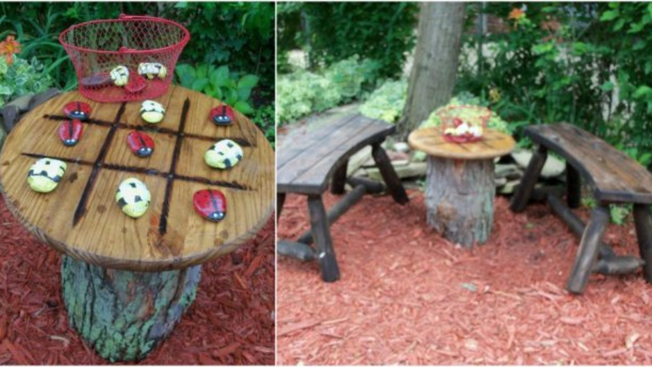 Great Ideas For Your Garden With Tree Stumps Small Design Ideas