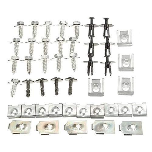Auto Clips Car Fastener Clips, 44x Parts Engine Under