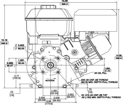 Small Engine Source.com 12S452-0049 Briggs & Stratton 6:1