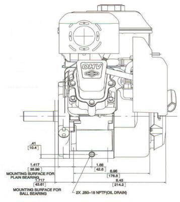 6.5 HP INTEK ™ I/C Model Series 121400