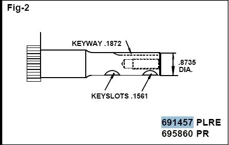 Briggs Stratton Crankshaft Part No. 691457