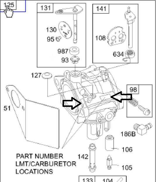 Briggs Stratton Carburetor Part No. 799728